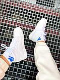 "Мужские/Женские кроссовки Nike Air Jordan 1 Mid ""White"", фото 5"