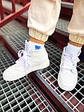 "Мужские/Женские кроссовки Nike Air Jordan 1 Mid ""White"", фото 6"