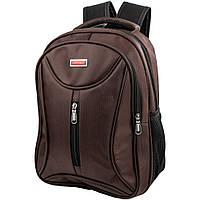 Мужской смарт-рюкзак (3DETAB11-10) Valiria Fashion 29х37х14 см Коричневый