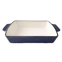 Форма чугунная, прямоугольная с ручками 30*21*6,2 синяя mzKJ30 MAZHURA