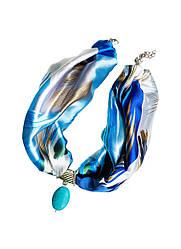 """Стильне жіноче кольє """"блакитна лагуна"""" від бренду my scarf, стильний чокер"""