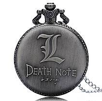 Кишенькові чоловічий годинник на ланцюжку Death Note Зошит Смерті, фото 3