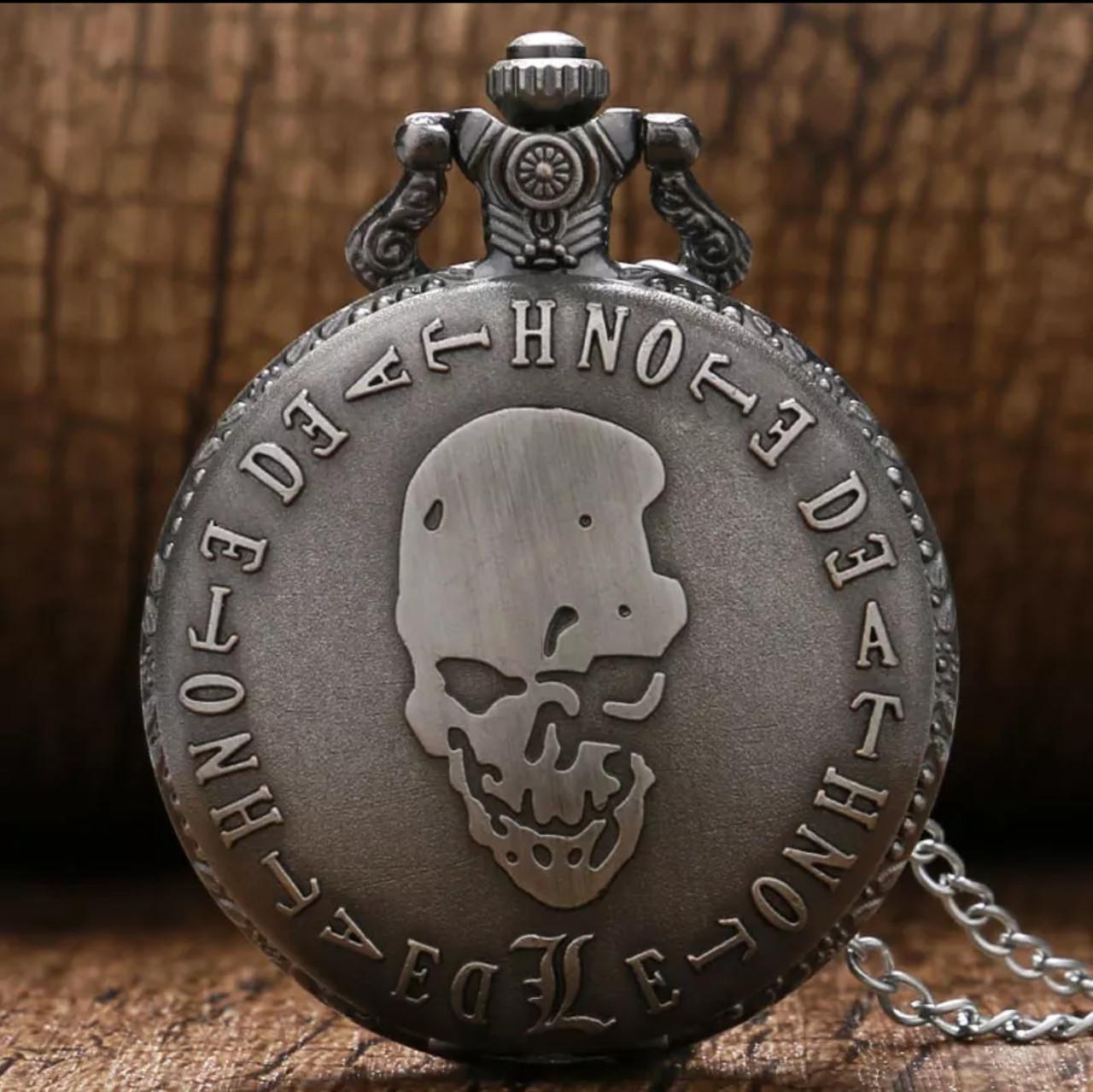 Карманные мужские часы на цепочке Death Note Тетрадь Смерти