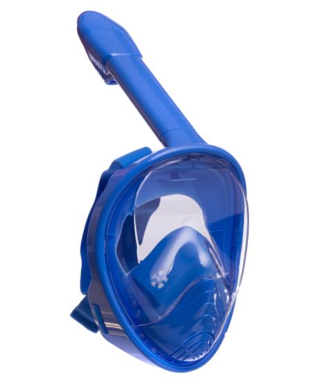Маска детская для снорклинга FitGo 6-12 лет синий