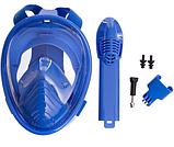 Маска детская для снорклинга FitGo 6-12 лет синий, фото 6
