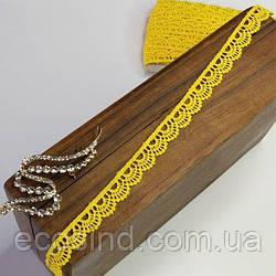 (1 метр) Кружево макраме Sindtex 1,2см Цвет - Желтый (51М-Y12459-4)