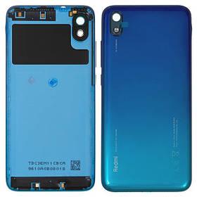Задняя крышка для Xiaomi Redmi 7a голубая gem Blue