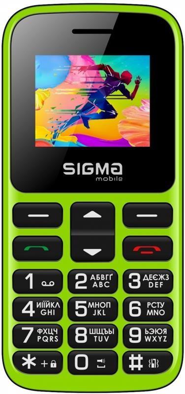 """Мобільний телефон Sigma mobile Comfort 50 Hit 2020 Dual Sim Green (4827798120941); 1.77"""" (160х128) TN /"""