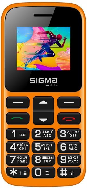 """Мобильный телефон Sigma mobile Comfort 50 Hit 2020 Dual Sim Orange (4827798120934); 1.77"""" (160х128) TN /"""