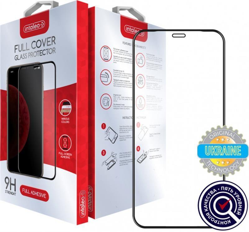 Захисне скло Intaleo для Apple iPhone 12 Pro Max Full Glue Black (1283126506437)