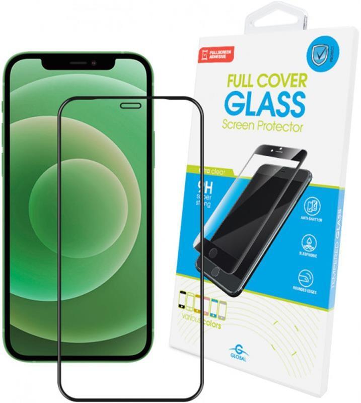 Защитное стекло Global для Apple iPhone 12 mini Full Glue Black (1283126506376)