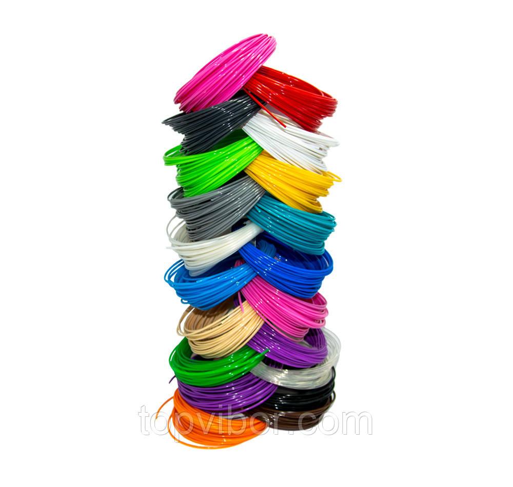 Пластик для 3d ручки, набір різних квітів по 10 метрів, pla пластик для 3д ручки | стержни для 3д ручки