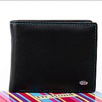 Женский кожаный кошелек 11.5x9.5x2.5 чёрный, фото 1