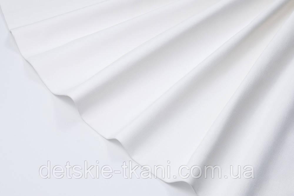 Лоскут однотонної тканини Duck білого кольору 50 * 45 см