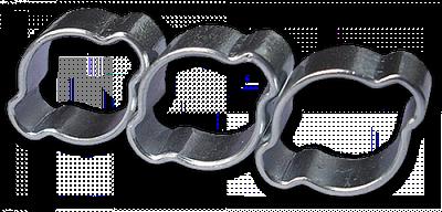 Хомут зажимной с двумя ушками, 15-18мм / 8мм,  OZ1518