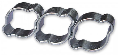 Хомут зажимной с двумя ушками, 17-20мм / 9мм,  OZ1720