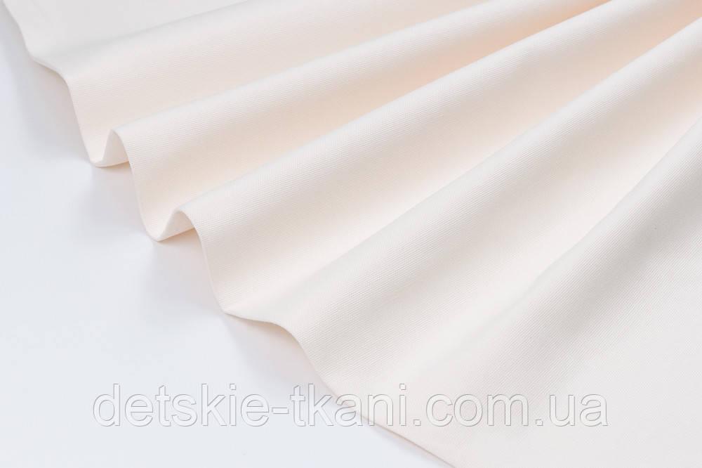 Лоскут однотонної тканини Duck колір слонової кістки 50 * 45 см
