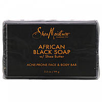 Средство для ухода за лицом и телом от прыщей, африканское черное мыло с маслом ши, SheaMoisture, 99 г