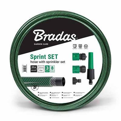 """Шланг для полива SPRINT 1/2"""" 30м + набор - орситель  рег., коннектор STOP и STANDART, адаптер, WFS1/"""