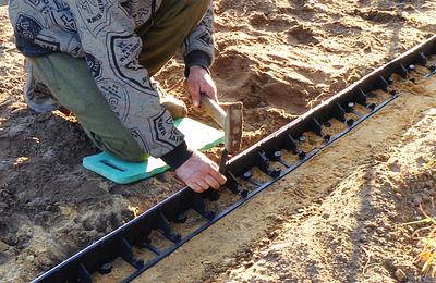 Колышек для крепления бордюра к почве,  25см, RIM-BORD, OBKT25/10