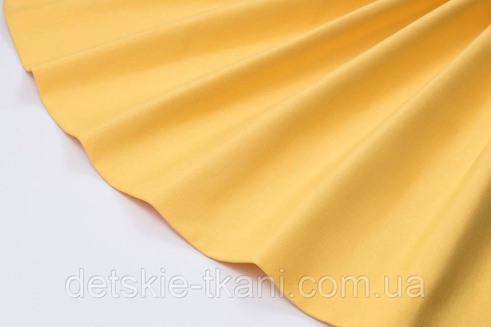 Лоскут однотонной ткани Duck жёлтого цвета 50*45 см