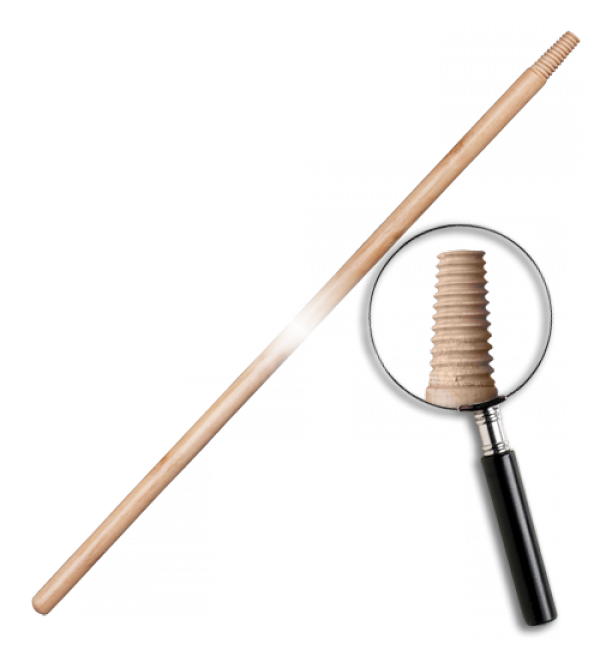 Дерев'яний держак, лакований IT (матрична різьба). Довжина: 120 см Діаметр: 25 мм, TVI24120