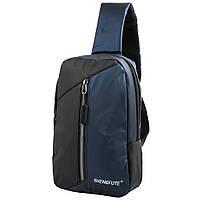 Мужская сумка-рюкзак (3DETAU6523-6) Valiria Fashion 18,5х26,5х7,5 см Синий