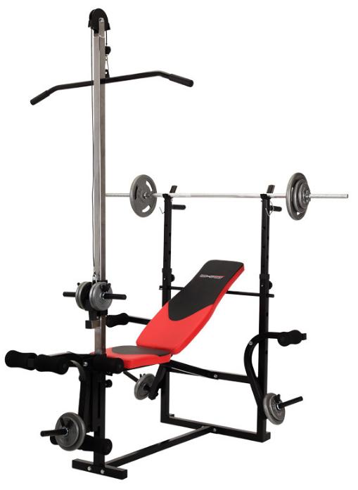 Лава для жиму лежачи універсальна Hop-Sport 1070 + тяга