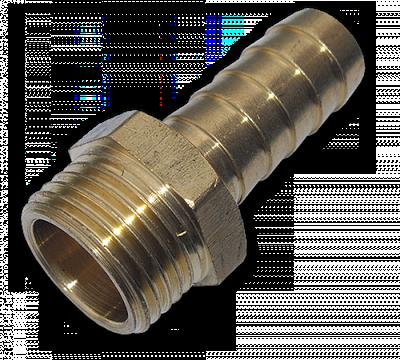 "GEKA Адаптер с ниппелем на шланг 19 мм, РН 3/4""  - латунь, GK76/3SK"