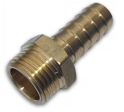 "GEKA Адаптер с ниппелем на шланг 25 мм, РН 3/4""  - латунь, GK76/4SK"