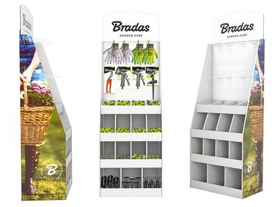 Cтеллаж экспозиционный картонный с товарами  Bradas, EXPO12