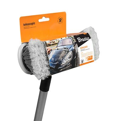 Щетка для мытья 20см, телескопическая ручка  80-130 см, ES2072