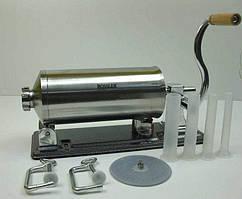 Шприц для набивання ковбаси 4 кг в домашніх умовах 4 пластикові насадки в комплекті