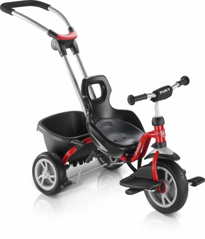Велосипед детский трёхколёсный Puky CAT S2 Ceety с ручкой и багажником