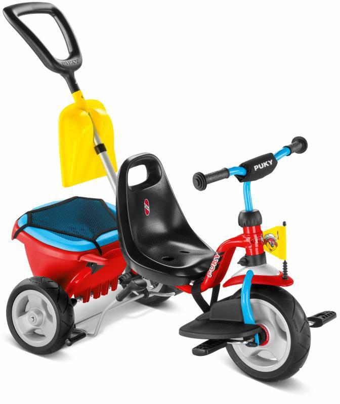 Велосипед дитячий триколісний з ручкою і багажником Puky Puky CAT 1SL (дитячий транспорт)