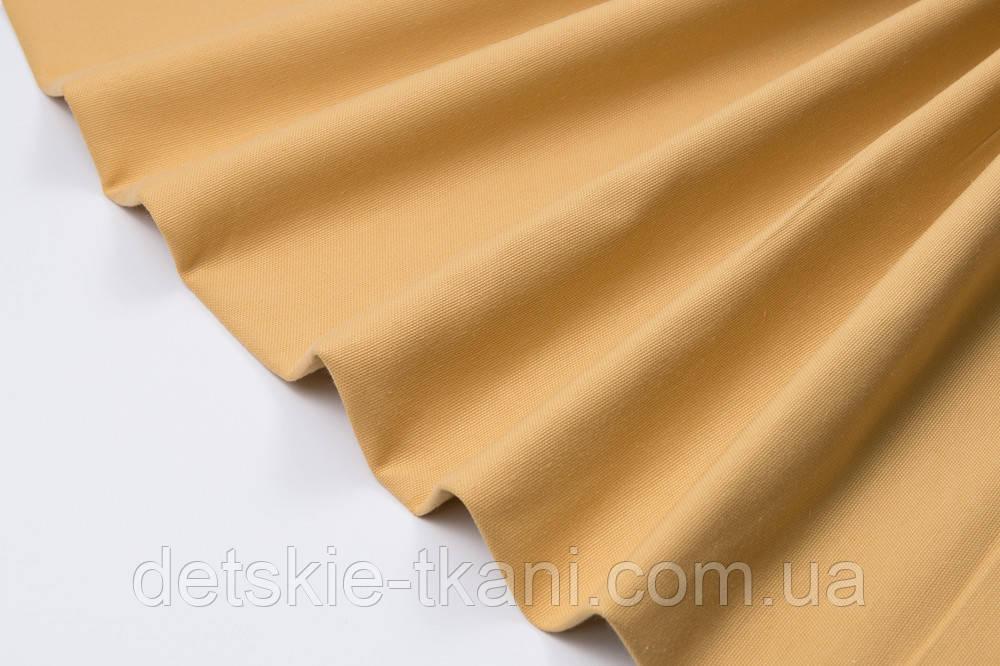 Лоскут однотонної тканини Duck світло-гірчичного кольору 50 * 45 см