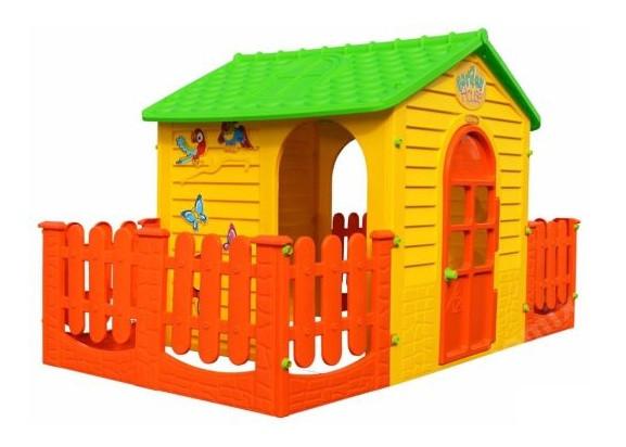Дитячий ігровий будиночок MOCHTOYS з двома терасами (ігровий будиночок для вулиці і вдома)