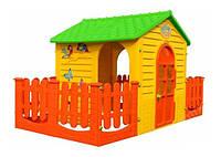 Дитячий ігровий будиночок MOCHTOYS з двома терасами (ігровий будиночок для вулиці і вдома), фото 1