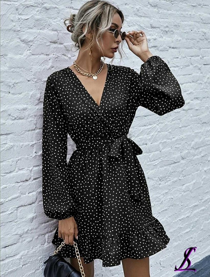 Женское платье, софт, р-р универсальный 42-46; 48-52 (чёрный)