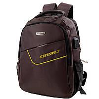 Мужской смарт-рюкзак (DETAB9033-10) Valiria Fashion 29х37х11 см Коричневый