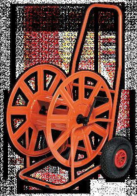 Тележка для шланга 3/4′′ 140м с накачанными  колесами, AG320-RG