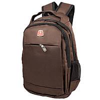 Мужской смарт-рюкзак (3DETAB86-5-10) Valiria Fashion 28х38х18 см Коричневый