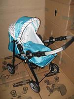 Дитяча лялькова коляска-трансформер 2 в 1 з перенесенням Adbor Mini Ring, фото 1