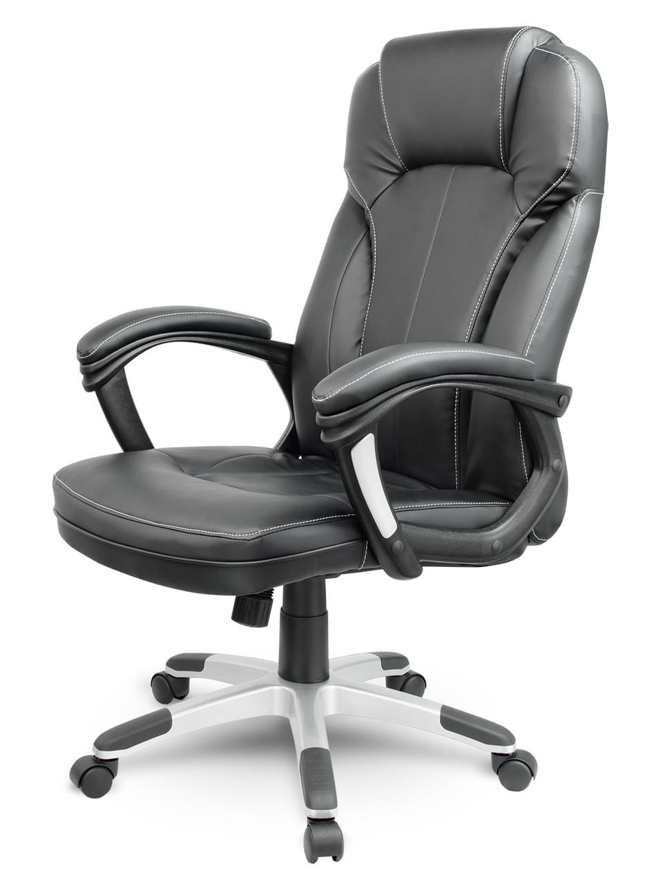 Офисное кресло компьютерное AEGO (Эко-кожа механизм TILT чёрное)