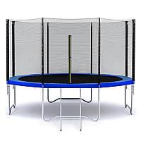 Батут MALATEC 404 см с защитной сеткой и лестницей (Спортивный батут), фото 1