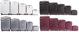 Комплект дорожніх валіз WINGS 402 Exlusive з полікарбонату 5 в 1