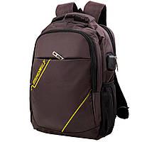 Мужской смарт-рюкзак (DETAB9036-10) Valiria Fashion 29х37х11 см Коричневый
