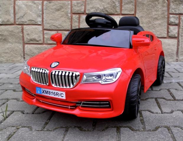 Детский электромобиль на аккумуляторе Cabrio B4 красный с пультом управления ( радиоуправление )
