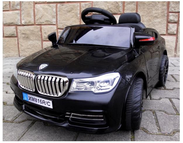 Дитячий електромобіль на акумуляторі Cabrio B4 Чорний, з пультом управління ( радіоуправління )