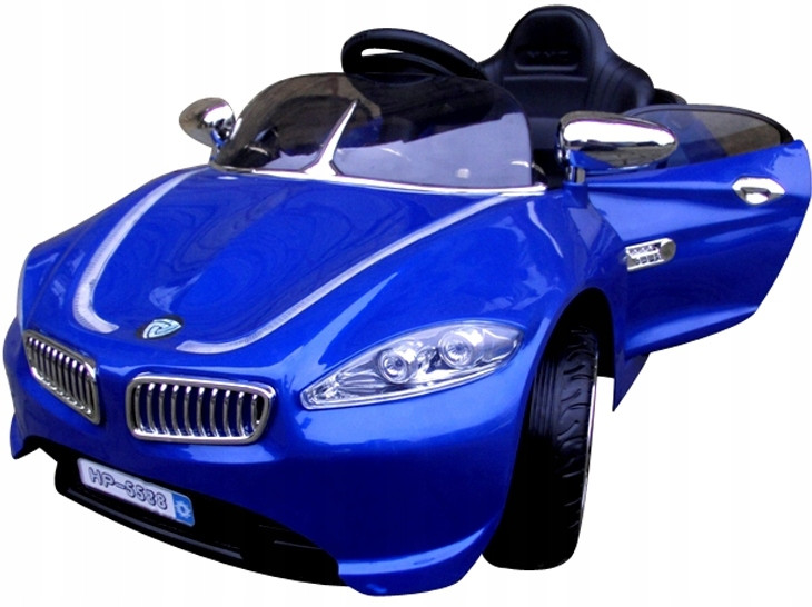 Детский электромобиль на аккумуляторе Cabrio B3 EVA синий с мягкими колесам и пультом управления